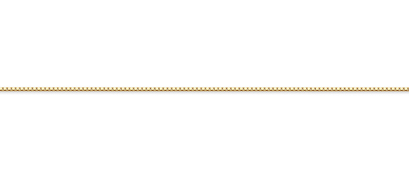 14K Gold Box Chain (0.75mm)