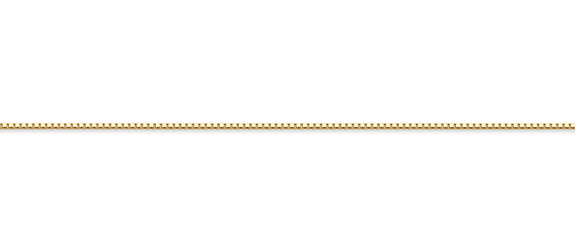 18K Gold Box Chain, 0.7mm