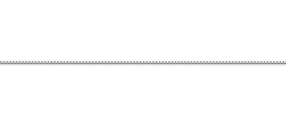 14K White Gold Box Chain (0.85mm)