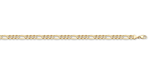 14K Gold 1.3mm Light Figaro Link Chain