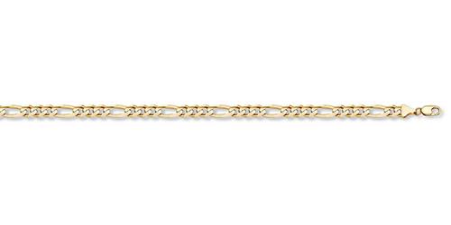 14K Gold 1.3mm Light Figaro Link Chain