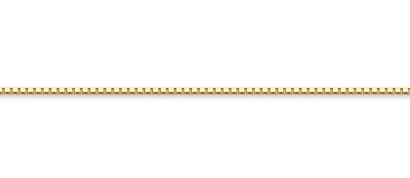 14K Gold Box Chain (1.3mm)