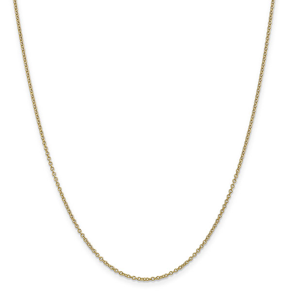 1.4mm 14K Gold Cable Link Chain Necklace