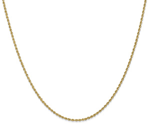 Regular Handmade 1.5mm 14K Solid Gold Rope Chain
