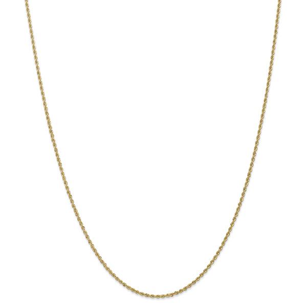 Regular Handmade 1.5mm 14K Solid Gold Rope Chain