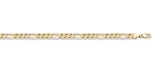 14K Gold 1.7mm Light Figaro Link Chain