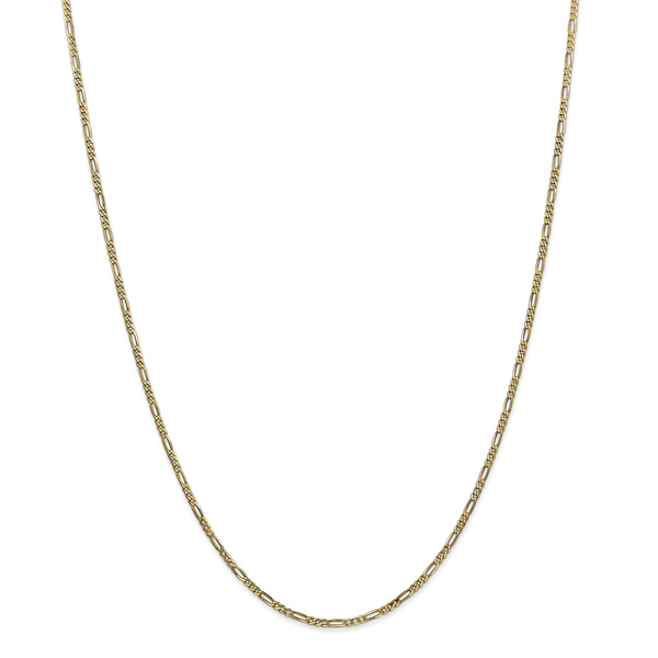 1.8mm Figaro Chain Necklace, 14K Gold
