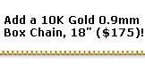 10K Gold Box Chain, 18