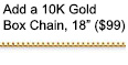 10K Gold Box Chain, 18 Inches