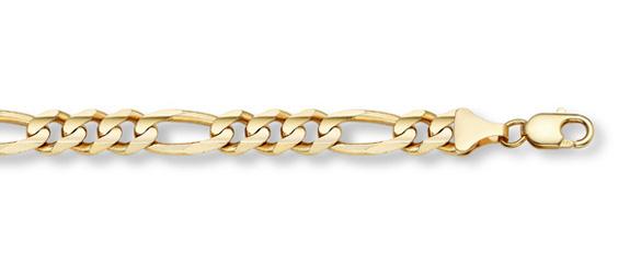 14K Gold Figaro Link Bracelet (12mm)