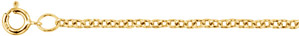14K Gold Cable Chain Necklace, 1.5mm