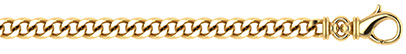 14K Solid Gold Handmade 4.4mm Thick Curb Link Chain Necklace