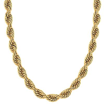 14K Solid Gold Handmade Regular 8mm Rope Chain
