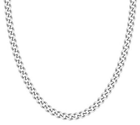 Handmade Platinum 5mm Curb Chain Necklace