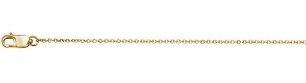 18K Gold Cable Chain Necklace (1mm)