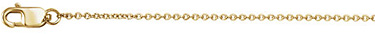 1.5mm 18K Gold Cable Link Chain Necklace