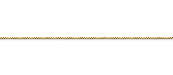 10K Gold 1mm Box Chain Necklace