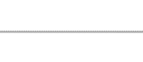14K White Gold Box Chain (1mm)