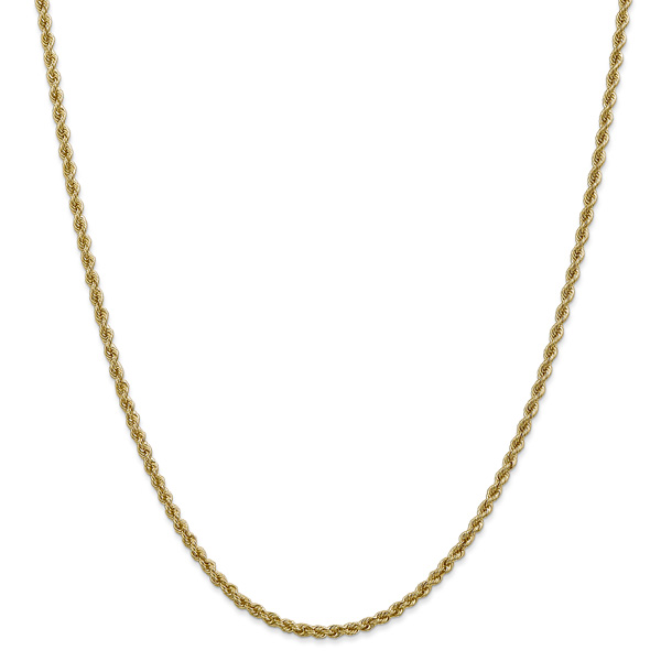 2.5mm 14K Solid Gold Regular Rope Chain