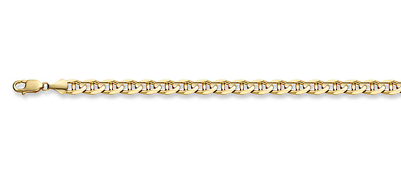 14K Gold 2.4mm Mariner Link Chain