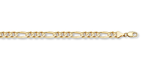 14K Gold 3mm Figaro Link Chain