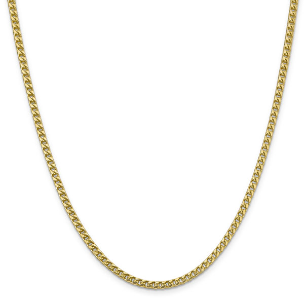 3mm France Chain Necklace in 14k Yellow Gold