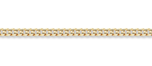 14K Gold 3mm Curb Link Chain