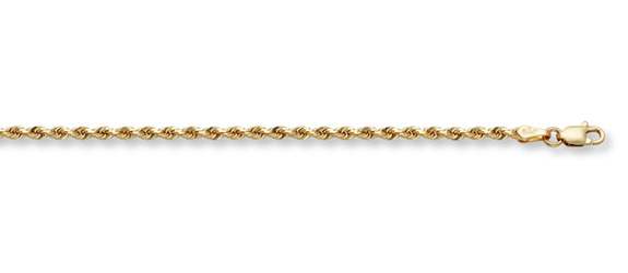 14K Gold 3mm Rope Chain