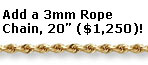 3mm Rope Chain, 20