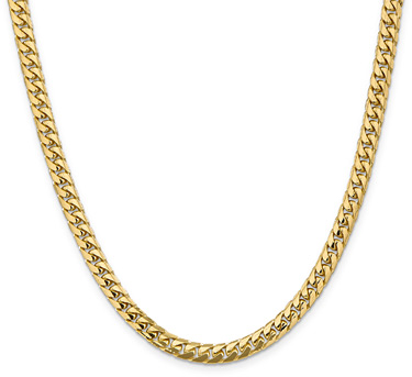 5.5mm 14K Gold Miami Cuban Chain Necklace, 20
