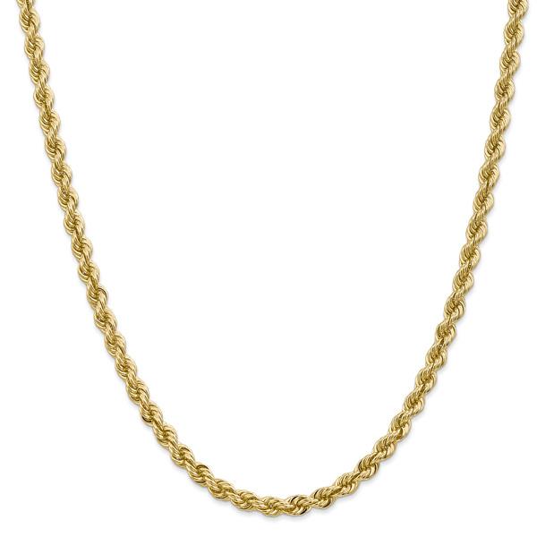 5mm 14K Solid Gold Regular Rope Chain, Handmade