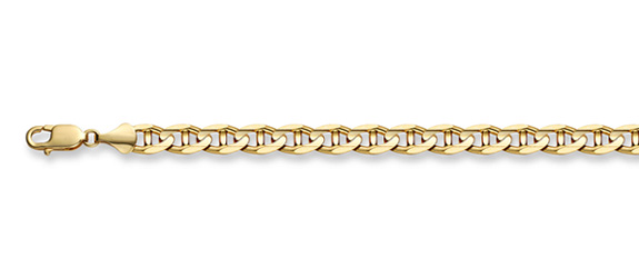 14K Gold 5mm Mariner Link Chain