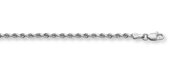 14K White Gold Rope Chain (5mm)