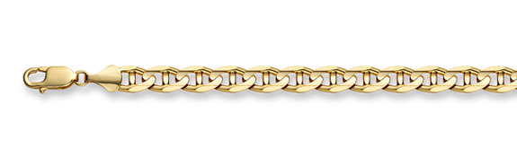 14K Gold 7mm Mariner Link Bracelet