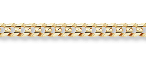 14K Gold 8mm Curb Bracelet