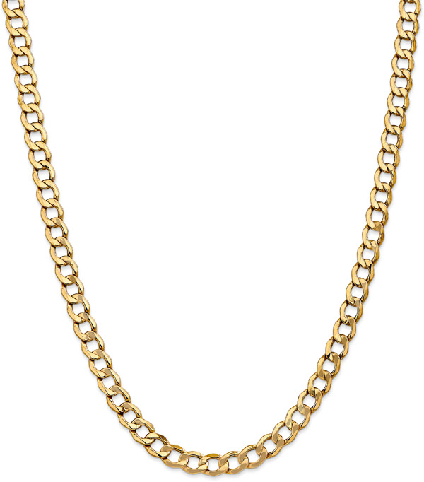 Men's 14K Gold Open Link Chain Necklace, 20