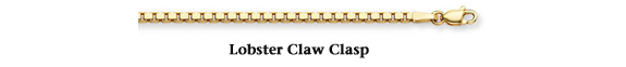 gold box chain with lobster claw clasp