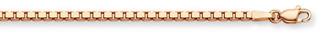 14k Rose Gold Box Chain (0.7mm)