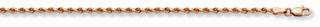 14K Rose Gold Rope Anklet (1.5mm)