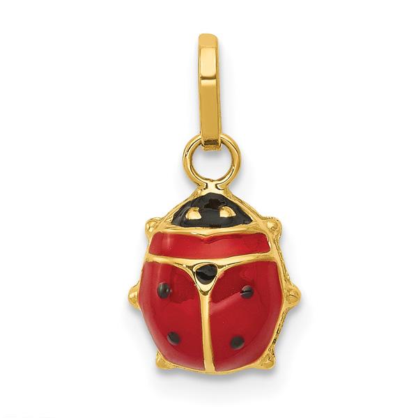 Italian Enameled Ladybug Charm