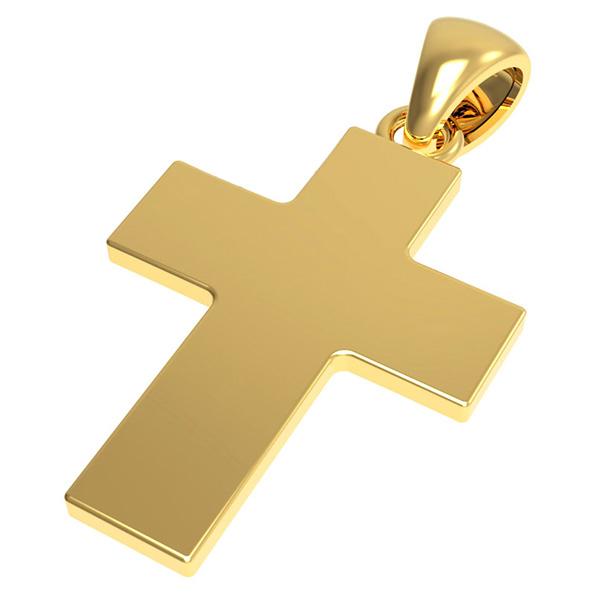 14k solid gold cross pendant