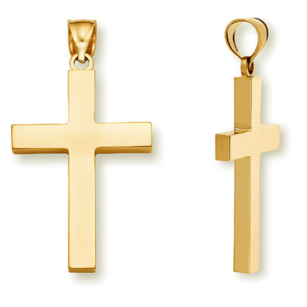 22k gold cross pendant for men