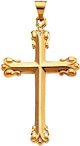 Ornate Cross Pendant, 14K Yellow Gold