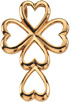 Heart Cross Pendant 14K Yellow Gold
