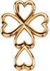 Heart Cross Pendant 14K Yellow Gold