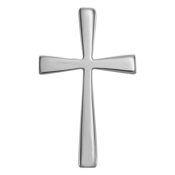 Crux Immissa Cross Pendant 14K White Gold