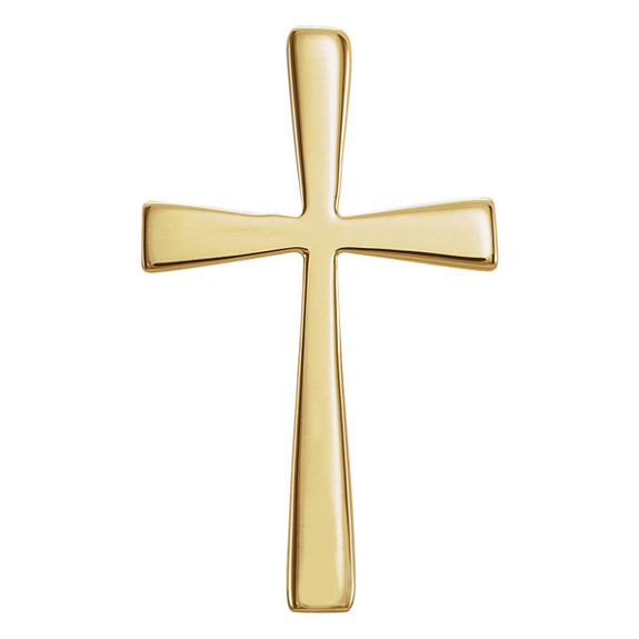 Crux Immissa Cross Pendant 14K Yellow Gold