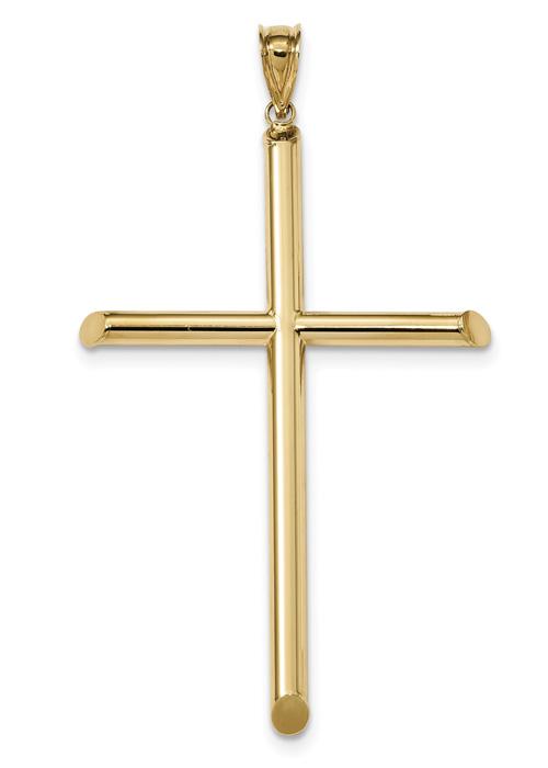 Extra-Large 14K Gold 3D Cross Pendant for Men