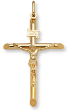 Large 14K Gold Crucifix Pendant for Men