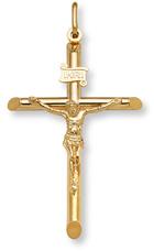 Large 14K Gold Crucifix Pendant for Men